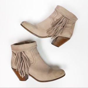Sam Edelman Louie fringe ankle boot tan leather